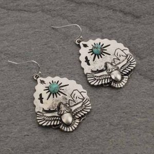 Navajo Style Faux Turquoise Earrings